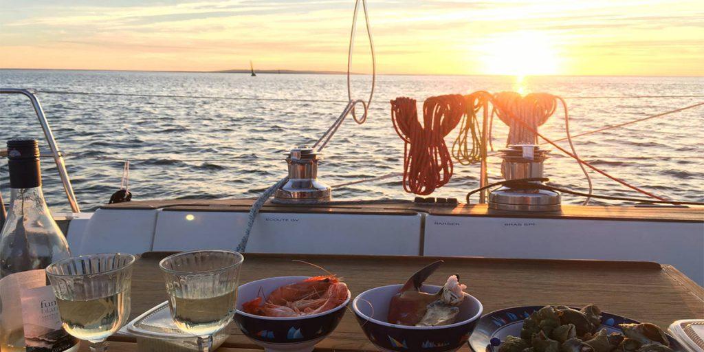 Soirée romantique en bateau à port frejus